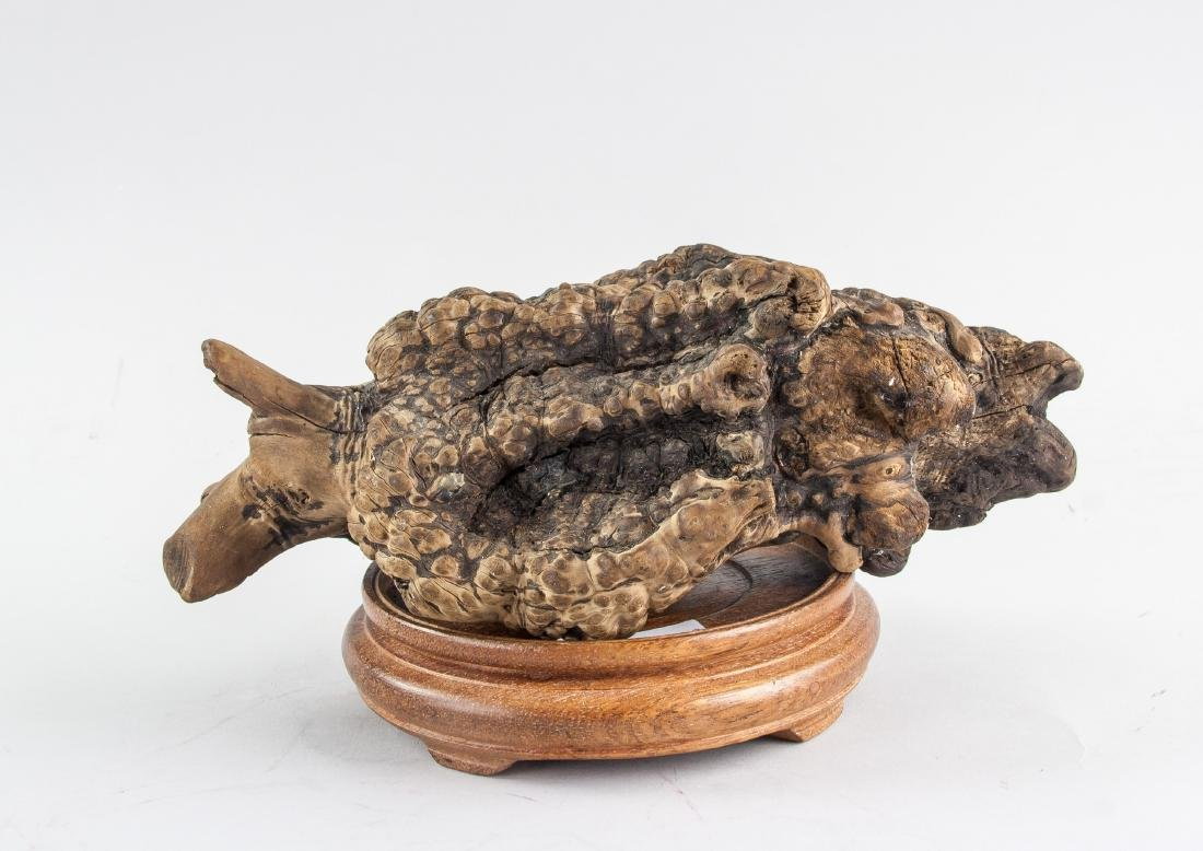 Chinese Fossilized Agarwood Scholar's Stone