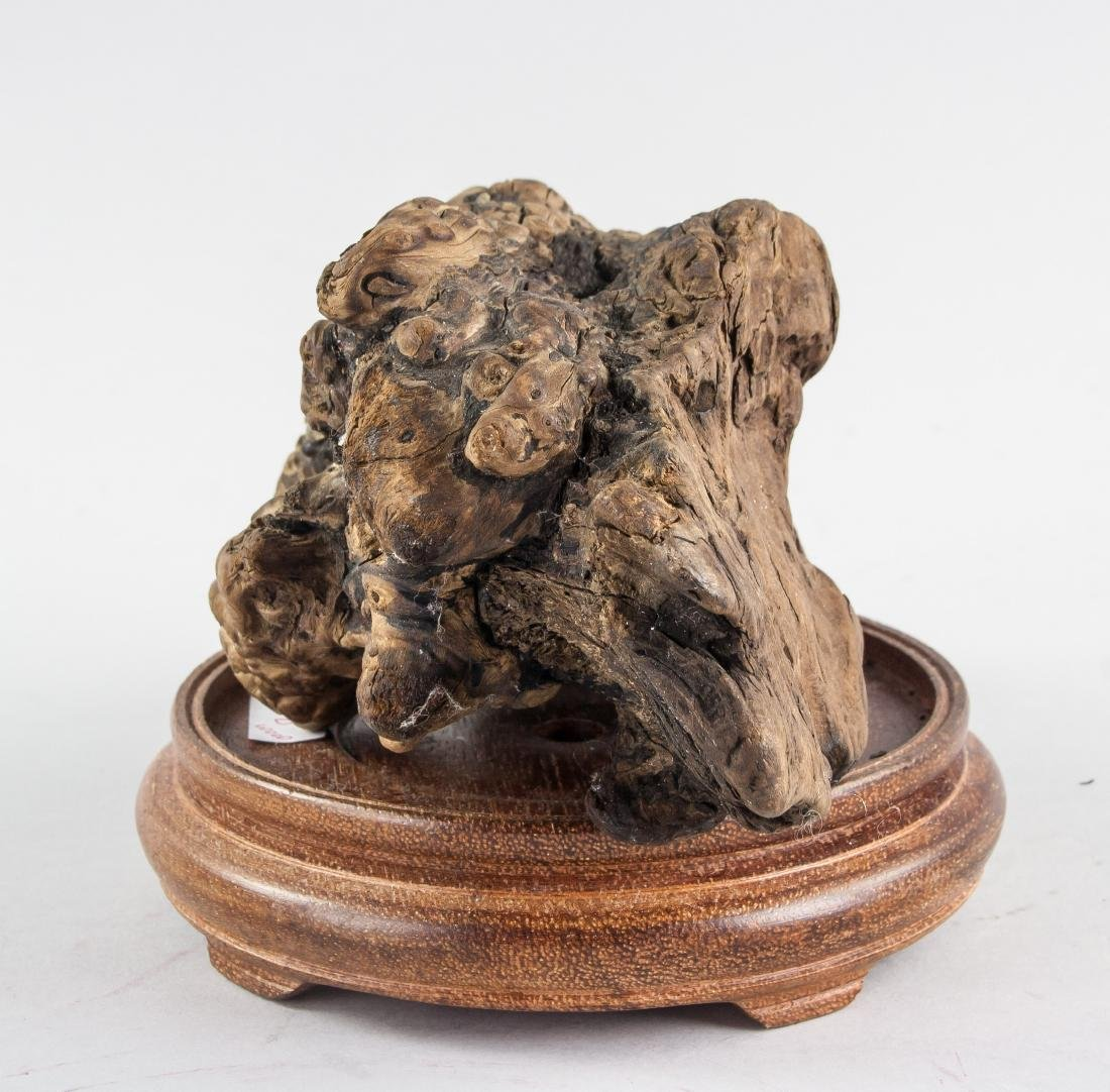 Chinese Fossilized Agarwood Scholar's Stone - 4