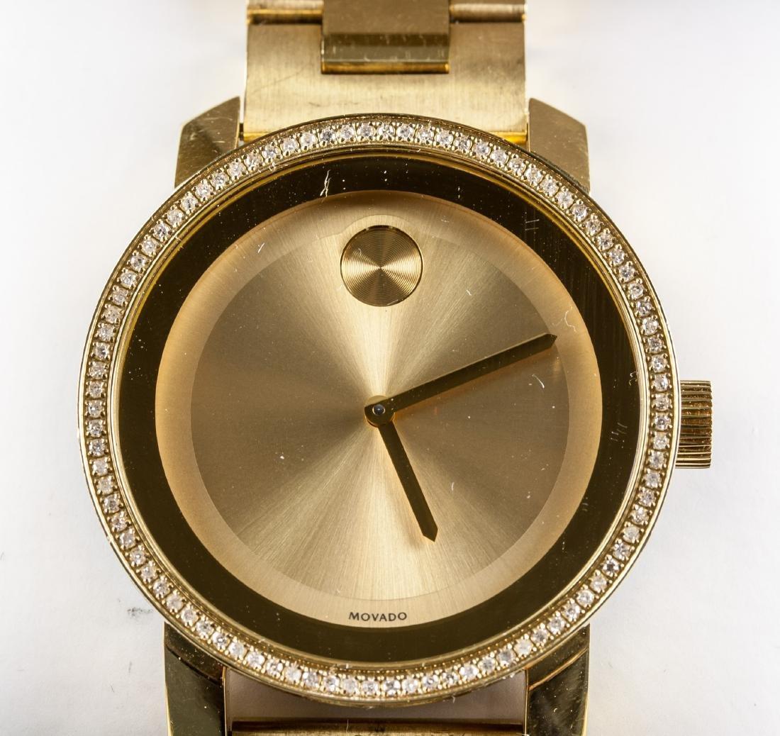 Movado Bold Gold Museum Diamond Watch