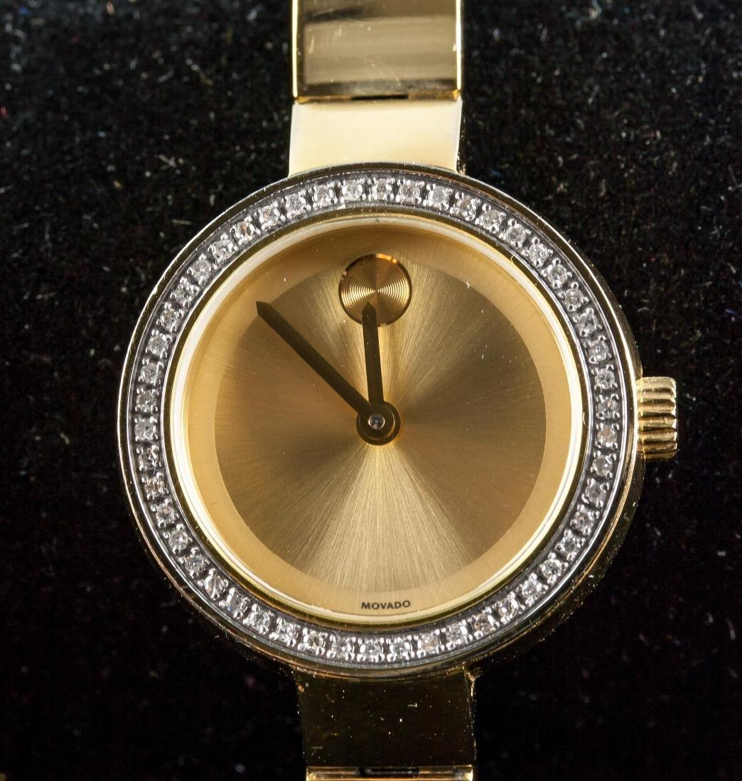 Movado Bold Women's Gold Museum Diamond Watch