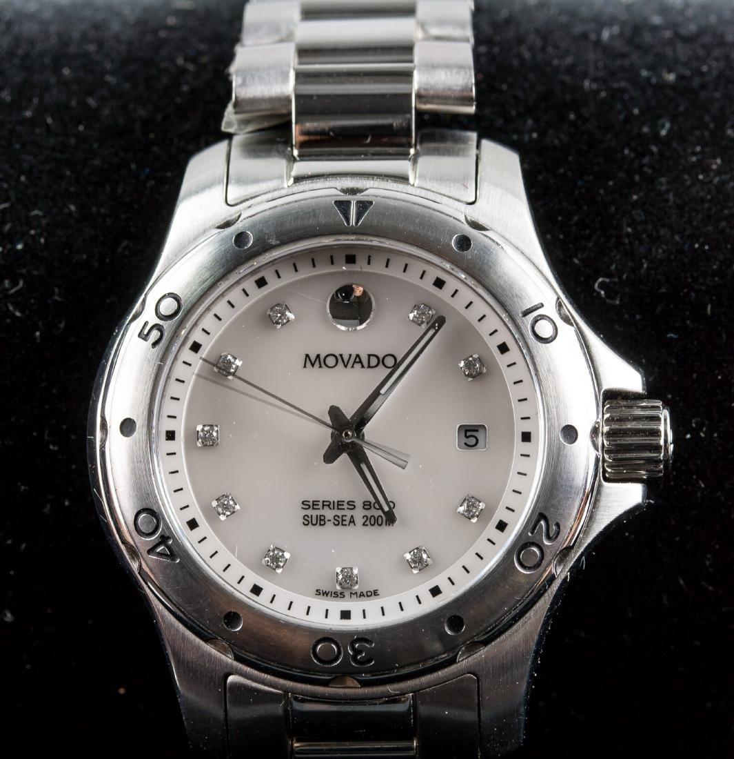 Movado Women's Mother of Pearl Diamond Watch