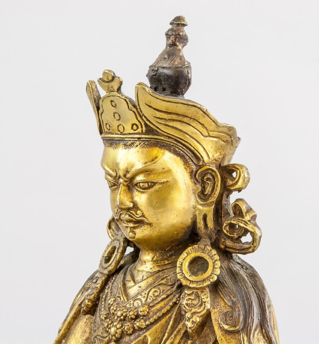 Tibetan Gilt Bronze Padmasambhava Staute - 6