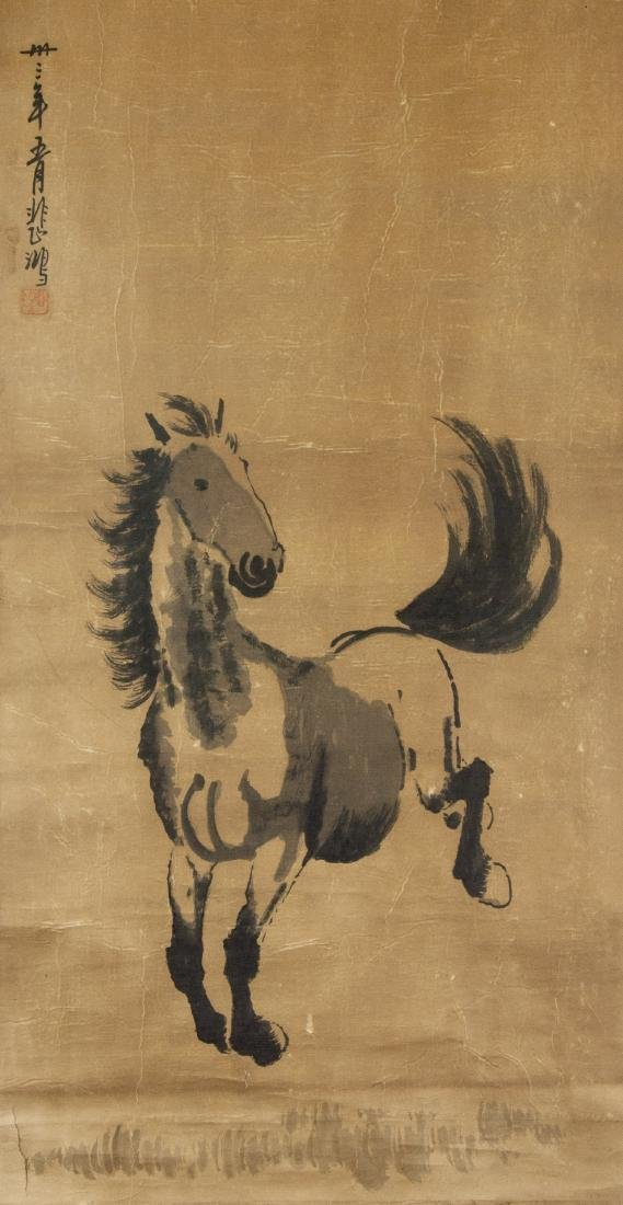 Xu Beihong 1895-1953 Chinese Ink on Paper Scroll