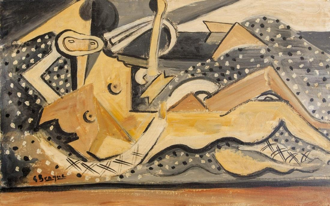 Georges Braque 1882-1963 French Acrylic on Board