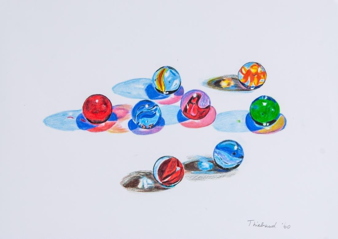 Wayne Thiebaud b.1920 American Colored Pencil Ball