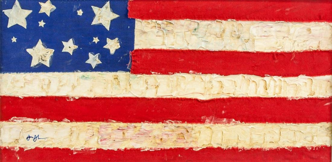 Jasper Johns (American b.1930) Mix Media Pop Art