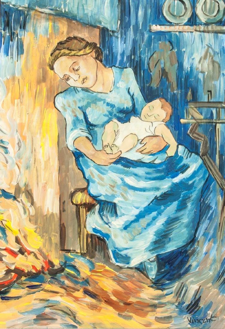 Vincent van Gogh Dutch 1853-1890 Mixed Media Lady