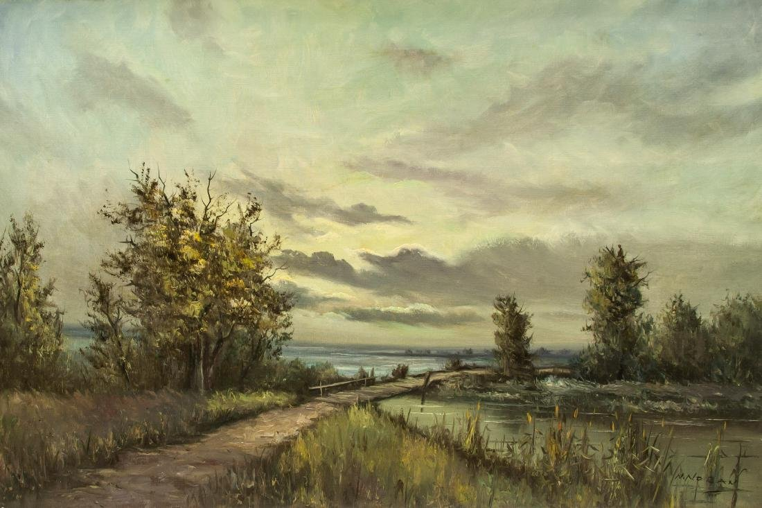 N. Noran b.1905 Austrian Cloudy Landscape OOC