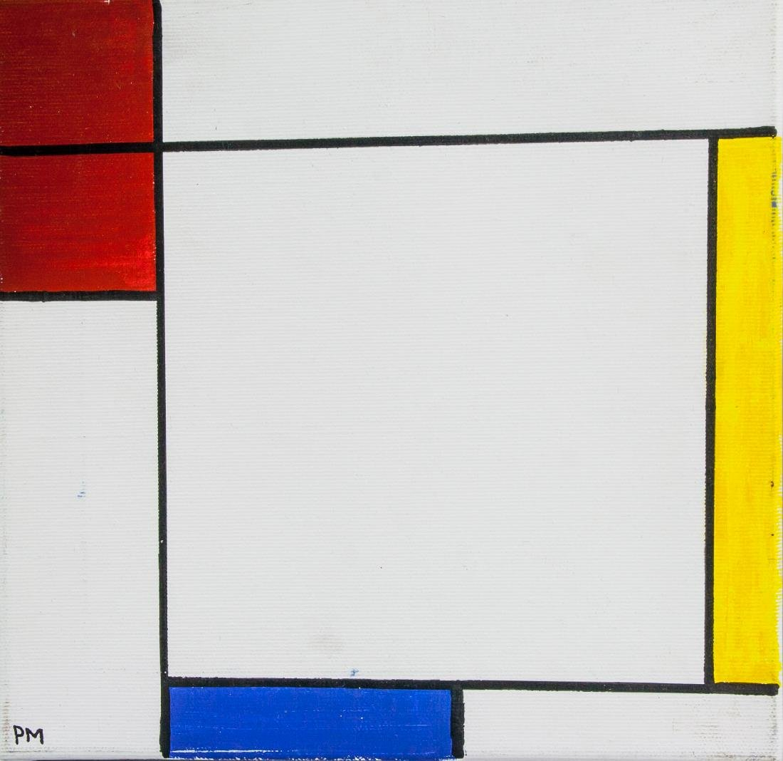 Piet Mondrian 1872-1944 Dutch Oil Composition