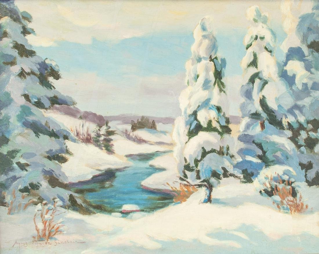Agnes Sinclair English-Canadian 1881-1952 Oil Snow