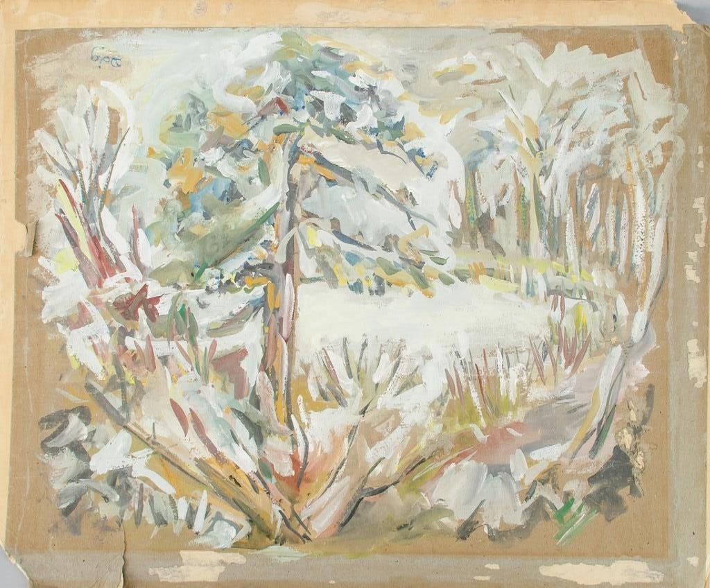 Peter Doig b.1959 English OOB Abstract