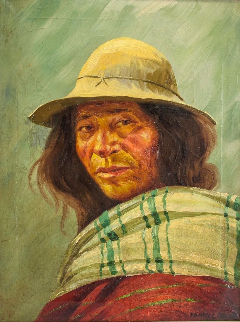 Henry Balink 1882-1963 American Oil Portrait