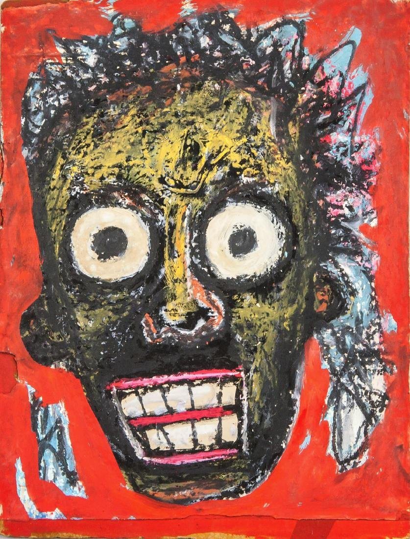 Jean-Michel Basquiat 1960-1988 US Oil on Board Abstract