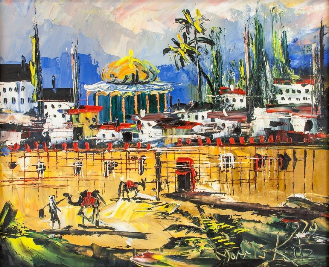 Moris Katz (Polish-US, 1932-2010) Oil on Board