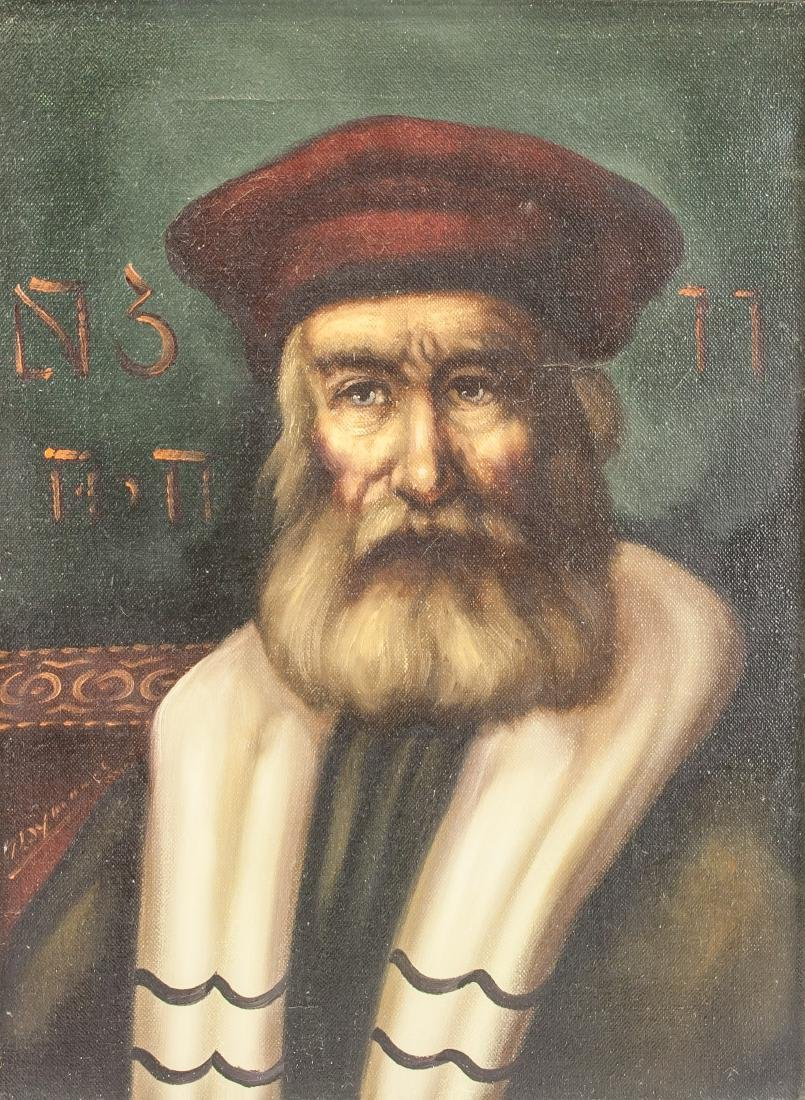 Oil on Canvas Portrait of Old Man
