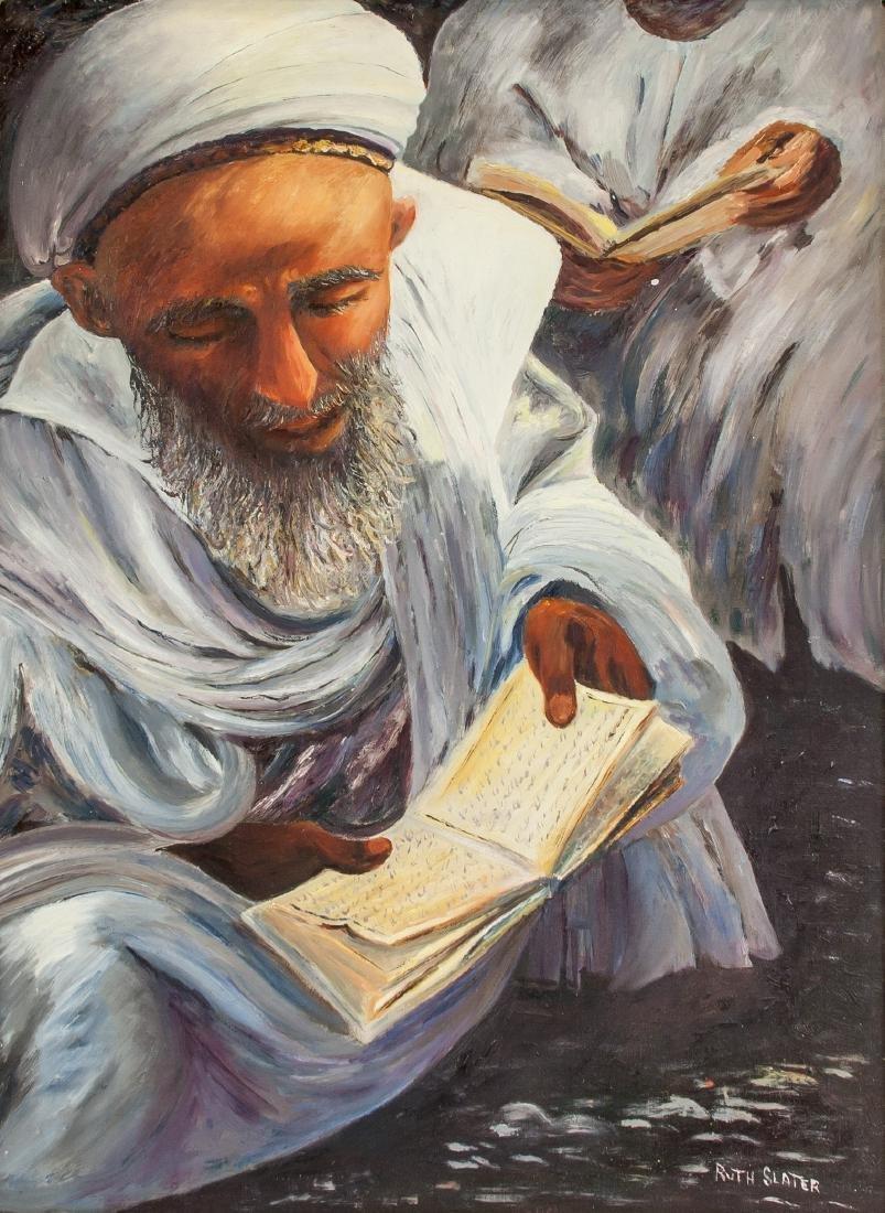 Ruth Slater Oil on Board Framed Religious Portrait