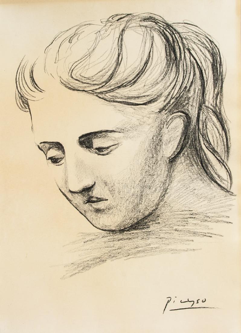 Pablo Picasso Spain (1881-1973) Pencil Portrait