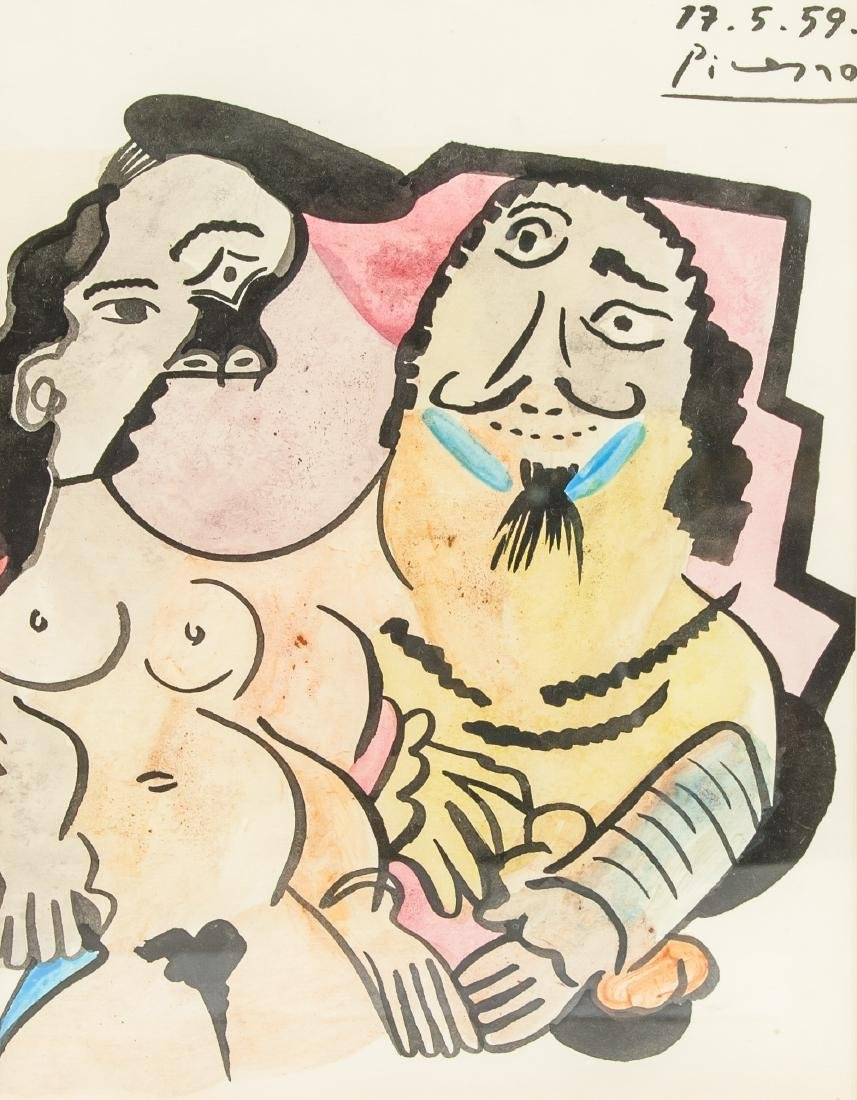 Pablo Picasso (Spain 1881-1973)Watercolor on Paper