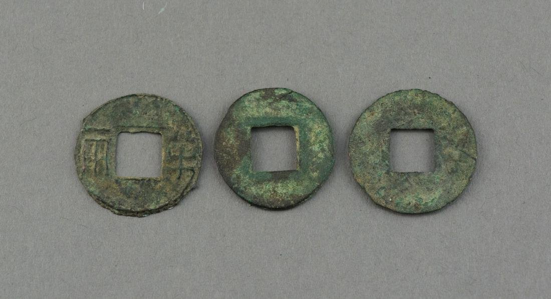 3 Assorted China Han Dynasty Bronze Coins