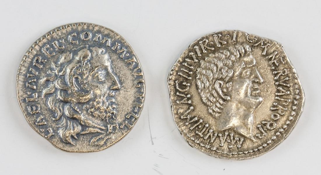2 Assorted Ancient Rome Antonius & Commodus Coin