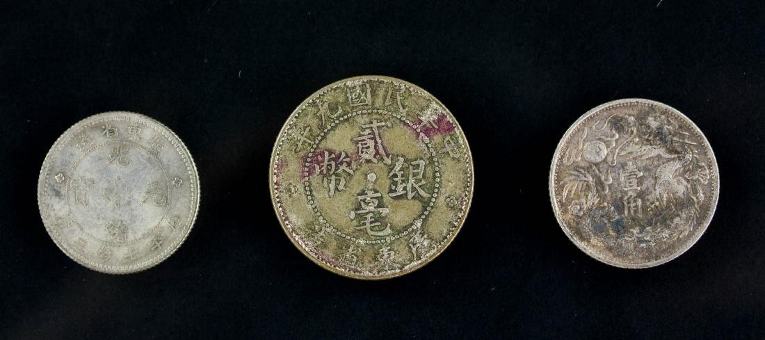 Three  Assorted Chinese Silver Coin