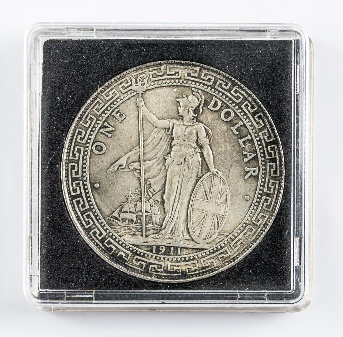 1911 British One Dollar Trade Coin KM-T5