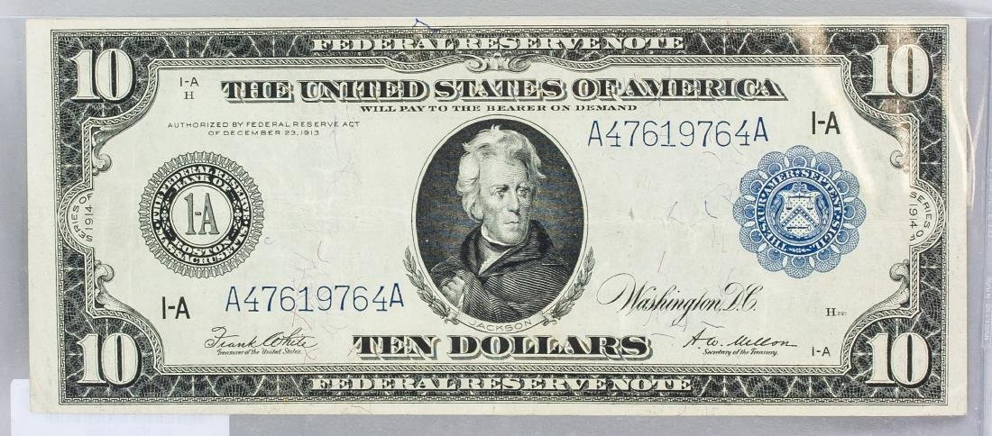 1914 United States 10 Dollars Banknote