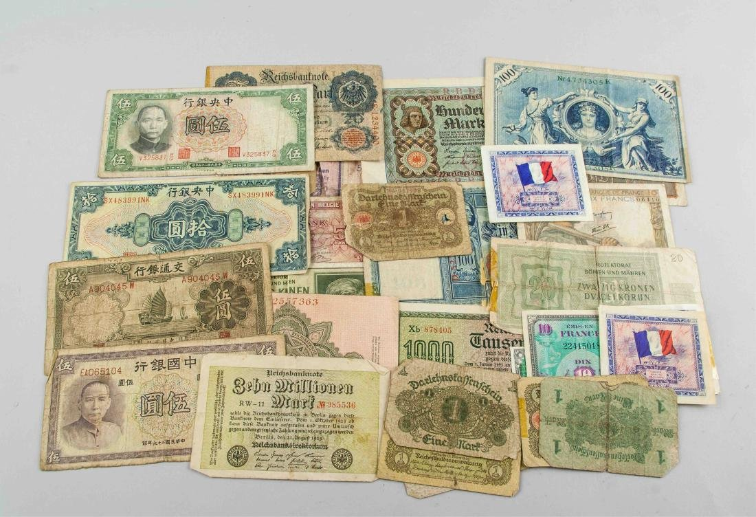 28 Assorted Worldwide Banknotes