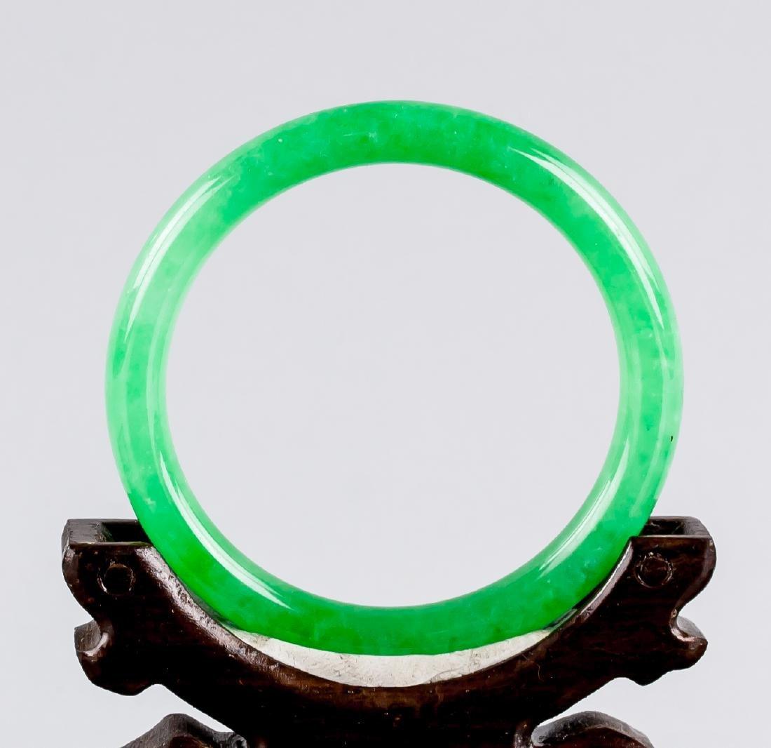 Burma Green Jadeite Carved Bangle GIA Certificate