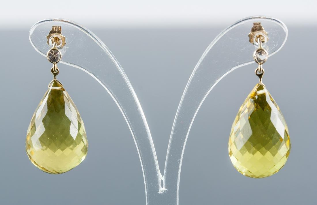 26ct Citrine & 0.15ct Sapphire Earrings RV $800