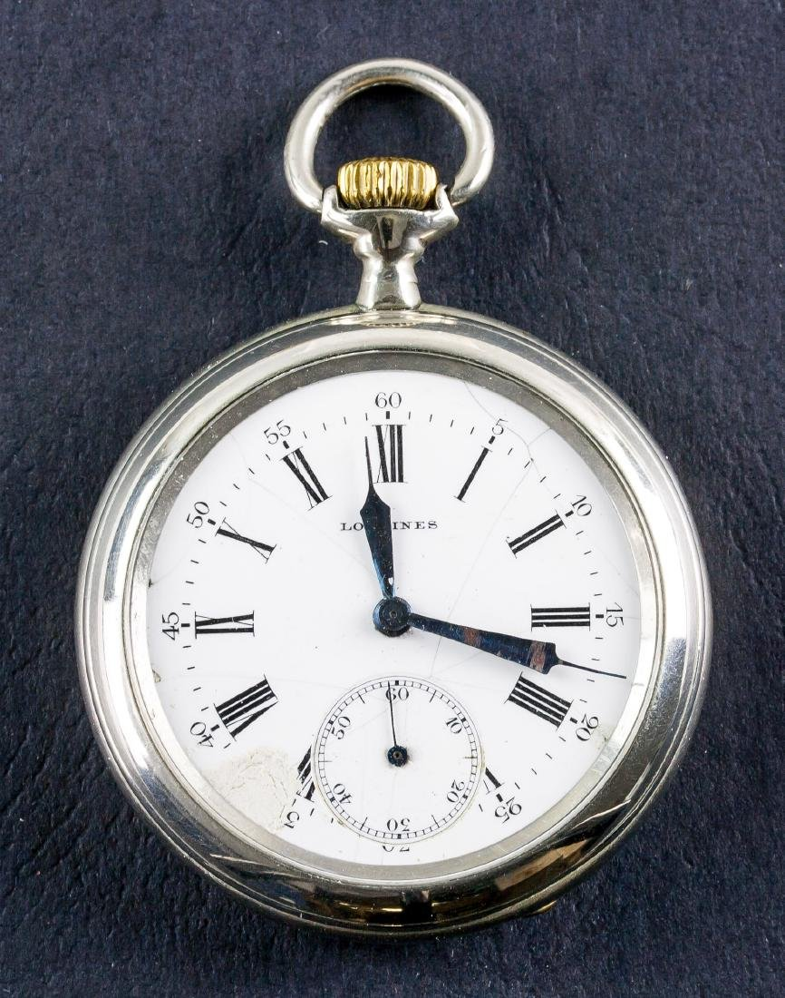 Longines EFC Silver Case Pocket Watch Working