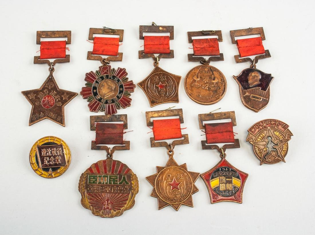 10 Assorted Chinese Metal Medals
