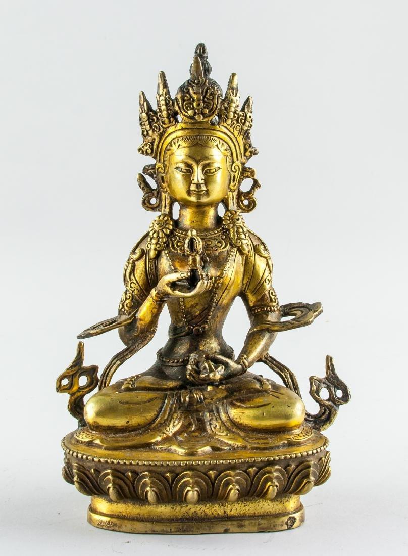 Tibetan Bronze Vajrasattva Statue