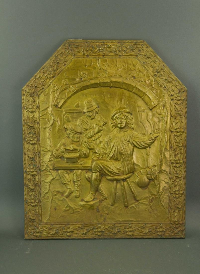 European Gilt Metal Plaque