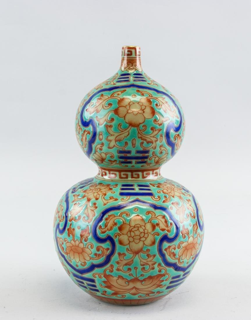 Chinese Famille Rose Porcelain Guard Vase Qianlong