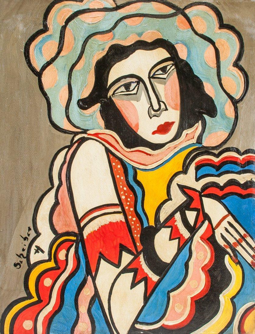 Hugó  Scheiber 1873-1950 Hungary Portrait OOC