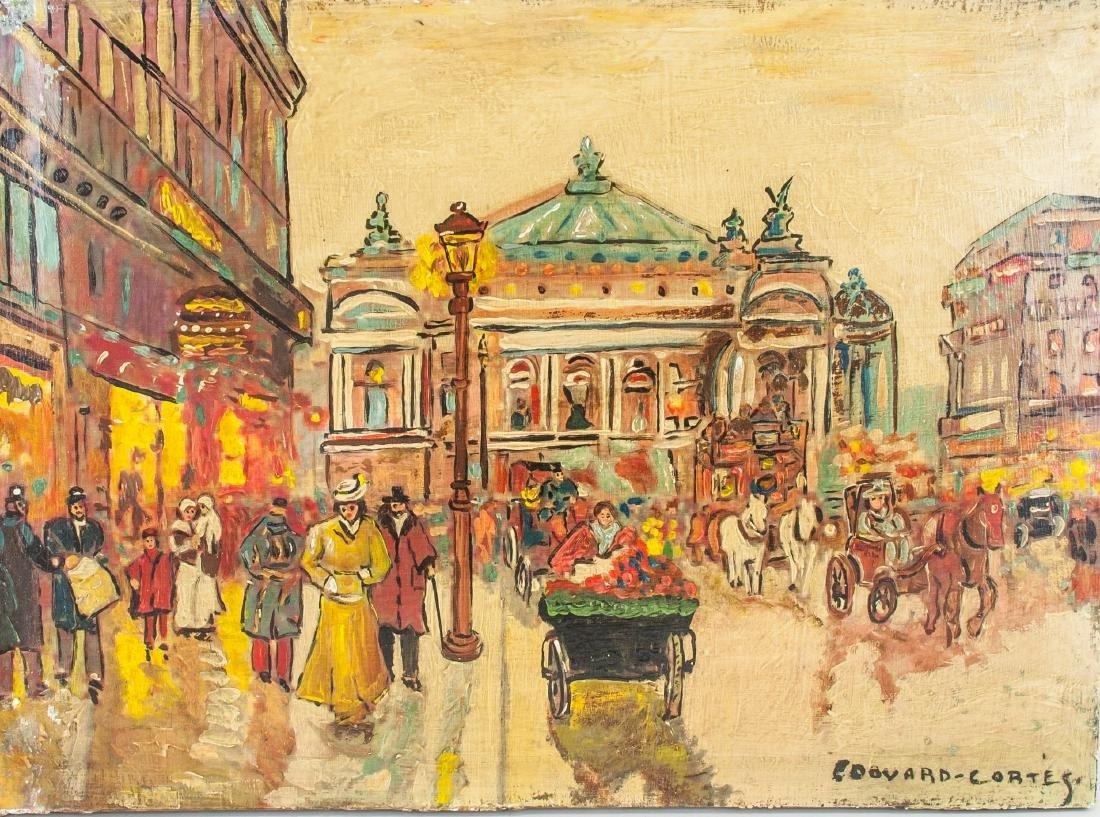 Edouard Cortes French 1882-1969 OOC City Scene