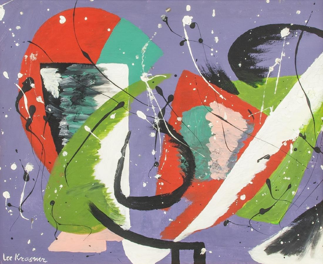 Lee Krasner American, 1908-1984 Oil on Canvas