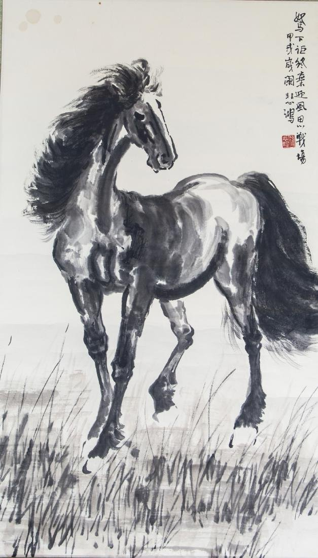 XU BEIHONG Chinese 1895-1953 Ink on Paper Roll
