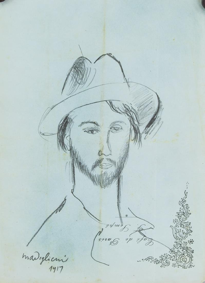 AMEDEO MODIGLIANI Italian 1884-1920 Graphite