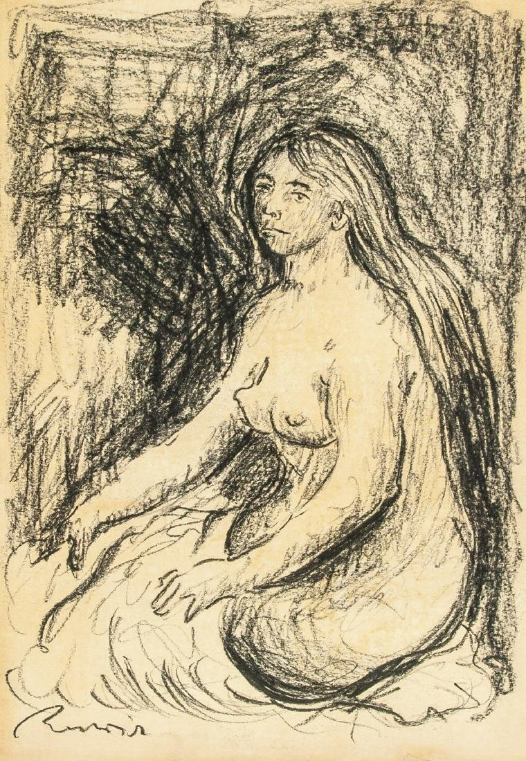 PIERRE-AUGUSTE RENOIR French 1841-1919 Charcoal