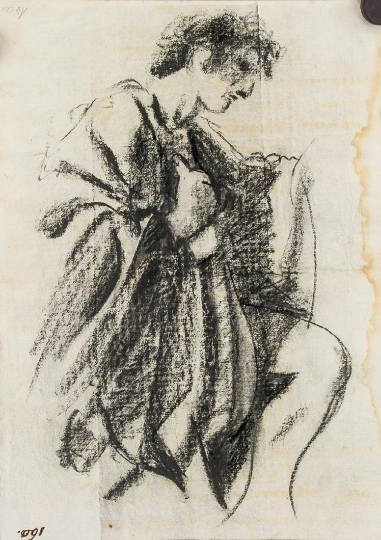 GUERCINO Italian 1591-1666 Charcoal on Paper