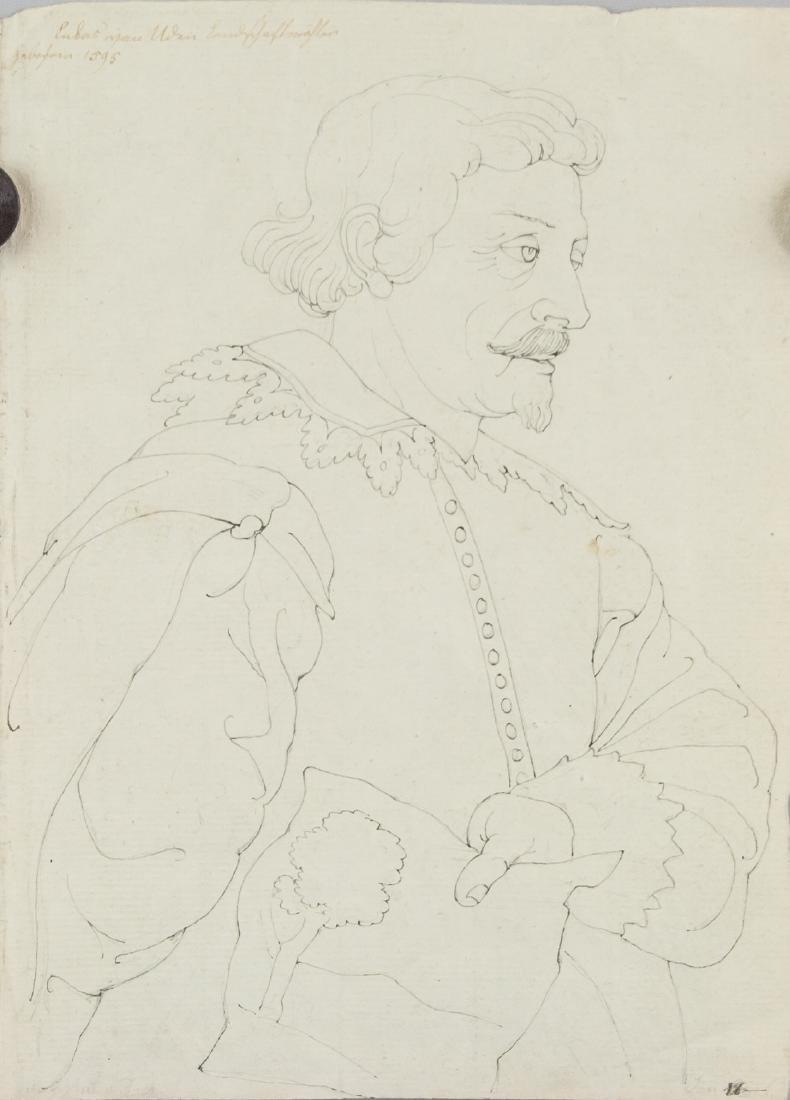 ANTOON VAN DYCK Flemish 1599-1641 Ink on Paper