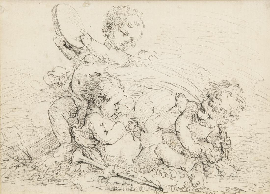 JACOB DE WIT Dutch c.1695-1754 Ink on Laid Paper