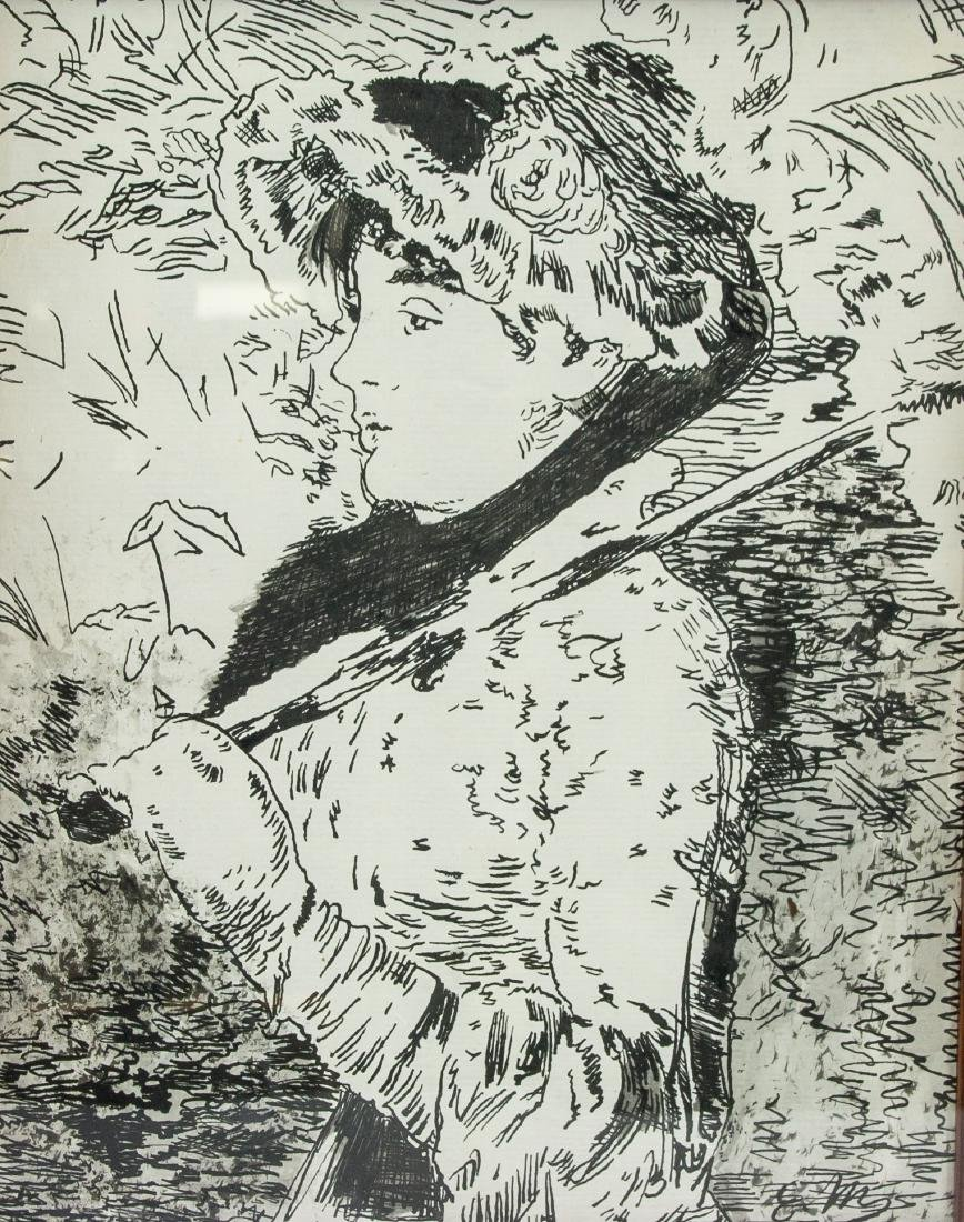 EDOUARD MANET Franch 1832-83 Ink on Paper