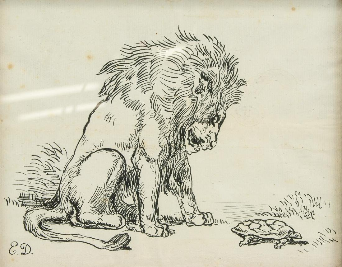 EUGENE DELACROIX French 1789-1863 Ink on Paper