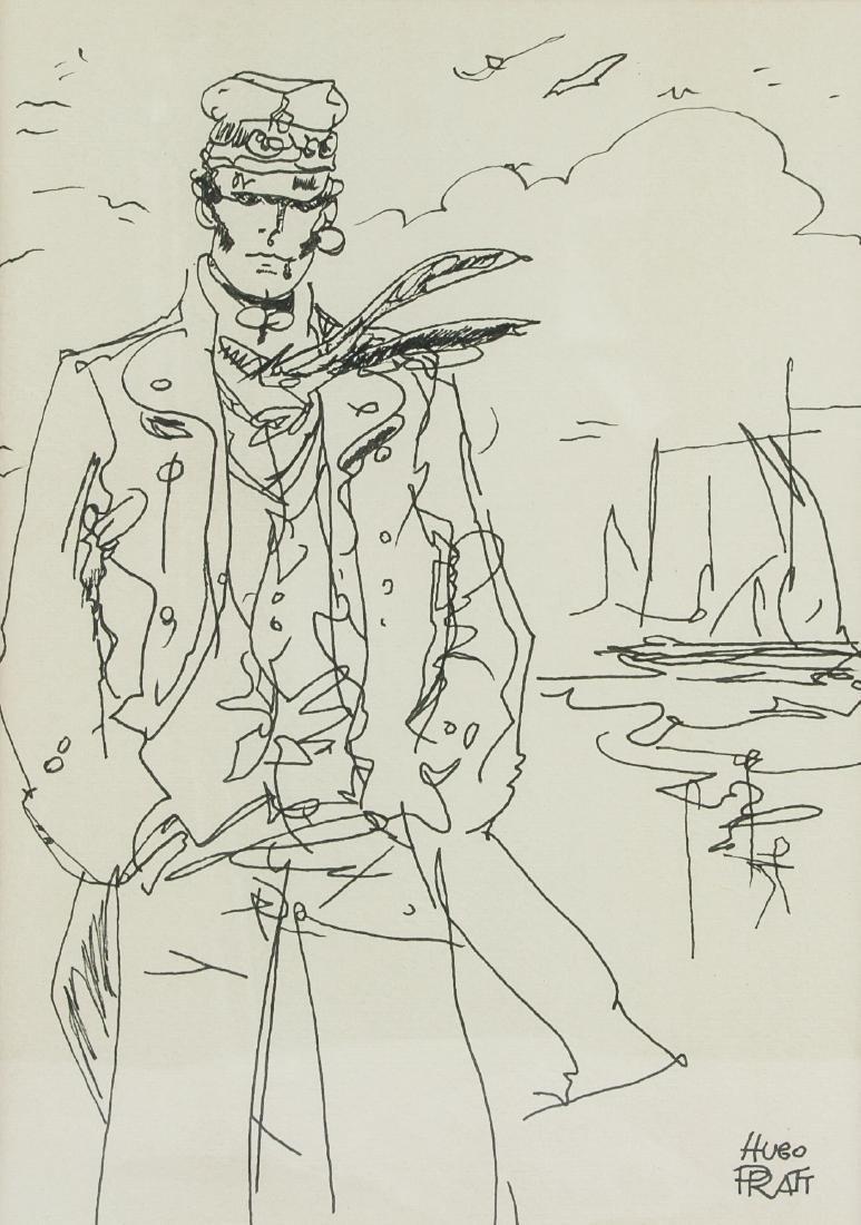HUGO PRATT Italian 1927-1995 Ink on Paper