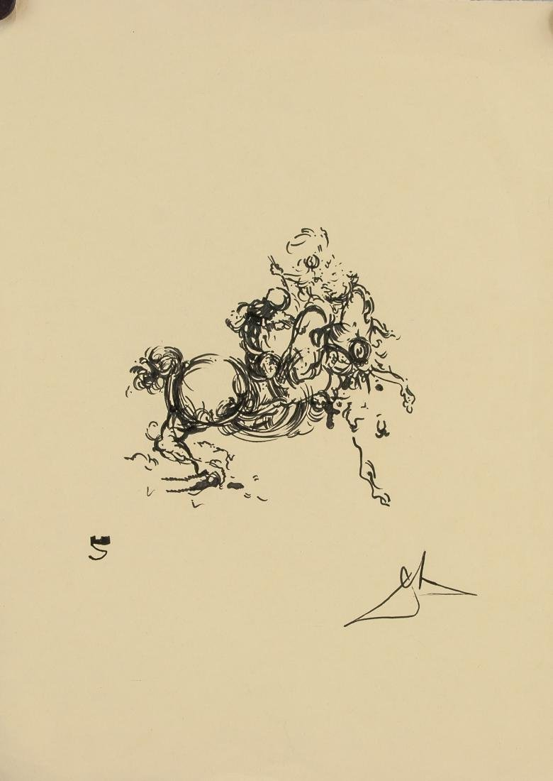SALVADOR DALI Spainish 1904-1989 Ink on Paper