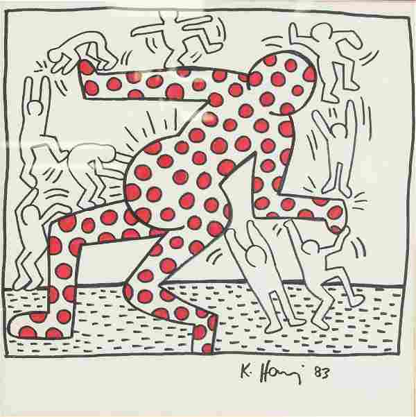 KEITH HARING US 1958-1990 Ink & Marker on Paper