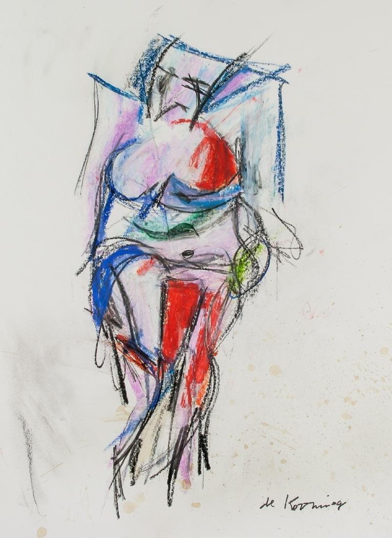 WILLEM DE KOONING 1904-97 Pastel on Paper Abstract
